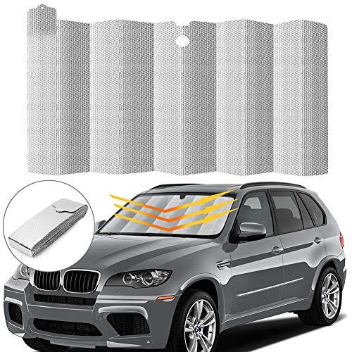 Car Windshield Sunshade, Auto Front Window Protector Sun Shade Visor Heat...