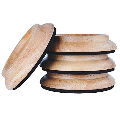 Copas con ruedas verticales para piano, almohadillas con ruedas para piano de madera dura Almohadilla para patas de muebles con alfombrilla de espuma antideslizante y antirruido EVA (madera natural)