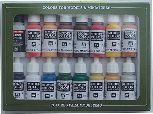 Vallejo val899 Peinture Model Color Révolution américaine peinture acrylique – couleurs assorties (Lot de 16)