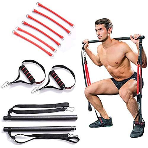 ZTGHS Fitness Rod Tension Squat Artifact Resistance Band Pilates Stick, Portable Home Gym Barra De Pilates Entrenamiento De Cuerpo Completo Entrenamiento Fuerza Equipo De Ejercicio,A