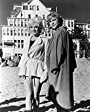 Marilyn Monroe and Jack Lemmon in Some Like It Hot on beach outside Hotel Del Coronado 8x10 Promotional Photograph
