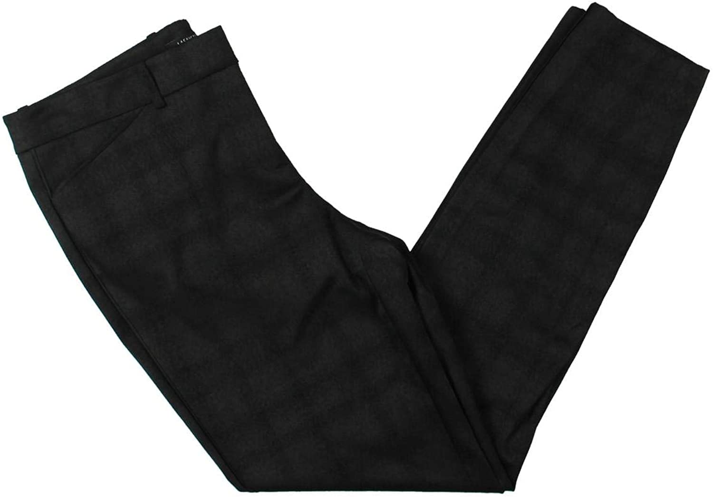 Lafayette 148 New York Womens Manhattan Pleated Business Skinny Pants