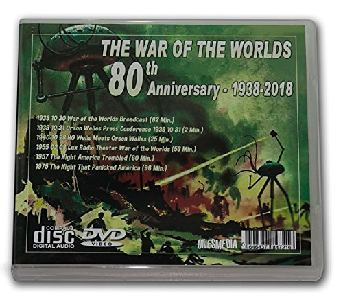 THE WAR OF THE WORLDS 80th ANNIVERSARY 1938-2018 - 2 Audio CD and 2 Films DVD