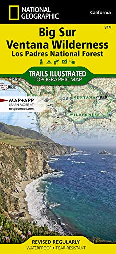Big Sur/ventana Wilderness - Los Padres National Forest: Trails Illustrated Other Rec. Areas: 814 (National Geographic Trails Illustrated Map)