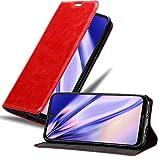Cadorabo Hülle für Motorola Moto G7 / G7 Plus in Apfel ROT - Handyhülle mit Magnetverschluss, Standfunktion & Kartenfach - Hülle Cover Schutzhülle Etui Tasche Book Klapp Style
