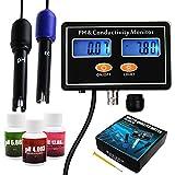 pH/EC Conductividad Metro con ATC Agua Calidad Ensayador 0.0-14.0pH /0~19.99ms/cm Acuario, Hidroponia Herramienta