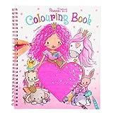 Depesche 10839 - Libro da colorare con Paillettes Princess Mimi, ca. 20,5 x 24 x 1,5 cm, Multicolore