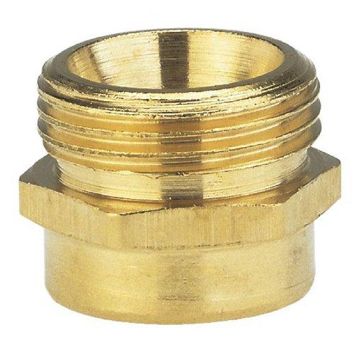 Gardena Messing-Reduzier-Gewindenippel: Messing-Anschlussstück zur Gewindereduzierung für z.B. Pumpen, 26.5 mm (G 3/4 Zoll)-AG/33.3 mm (G 1 Zoll)-IG (7264-20)