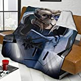 Fluffy Blanket Mass Effect-N7 Bed Blankets Super Soft Reversible Sherpa Fleece Blanket Throws...
