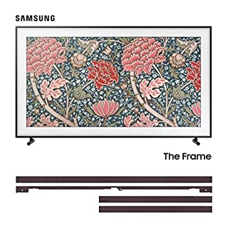 """Samsung 49"""" Frame TV with Customizable Brown Bezel (B07ZV12H7L) 