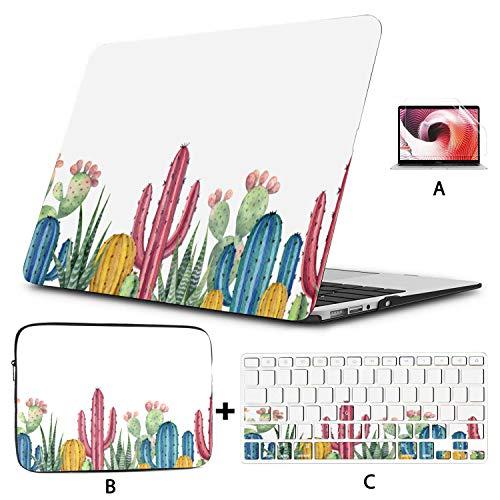 Macbook Pro Funda Protectora Cactus Plantas Verdes Belleza Mac Air Funda Hard Shell Mac Air 11'/ 13' Pro 13'/ 15' / 16'con Funda para portátil para Macbook Versión 2008-2020
