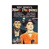 Póster de película Mary Poppins viejo de lona para decoración de la pared, para sala de estar, dormitorio, 30 x 45 cm, estilo unframe-1