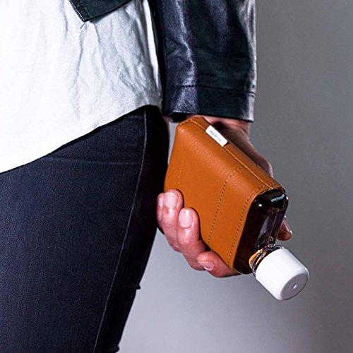 memobottle A7 Leather Sleeve/Leder-Schutzhülle A7 Wasserflasche