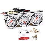 Dyno Racing 2inch 52MM Triple Gauge kit Volt Meter Water Temp Temperature Gauge Oil Press Pressure Gauge Car Meter
