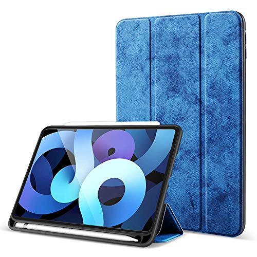 Robustrion Marble Series Smart Trifold Flip Stand Case Cover for iPad Air 4 10.9 inch 2020 - Blue