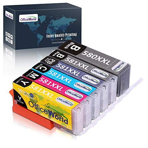 Cartuccia d'inchiostro OfficeWorld 580XXL 581XXL compatibile in sostituzione di Canon PGI-580 CLI-581 per Canon Pixma TS8150 TS8151 TS8152 TS8250 TS8251 TS8252 TS9150 TS9155
