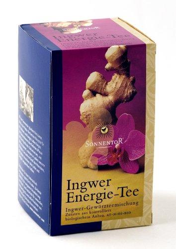 Sonnentor Ingwer Energie-Tee Teebeutel, 2er Pack (2 x 30 g) - Bio