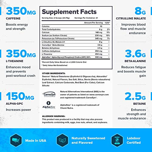 Legion Pulse Natural Pre Workout Supplement