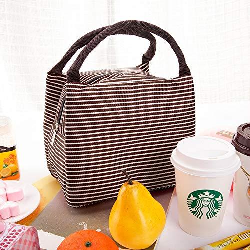 HeBiShiZeLiJianCaiXiaoShouYouXianGongSi Isolierung-Speicher-Beutel-Handtasche Multifunktionstuch Hitze Erhaltung Kälte, Größe: 23x17x15cm, einfach und elegant (Color : Brown)