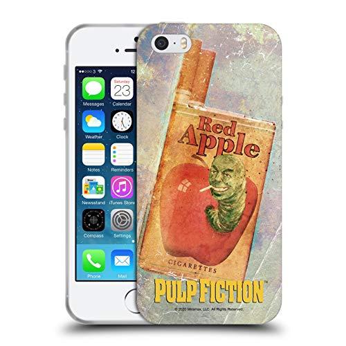 Head Case Designs Licenza Ufficiale Pulp Fiction Cigarette Arte Cover in Morbido Gel Compatibile con Apple iPhone 5 / iPhone 5s / iPhone SE 2016