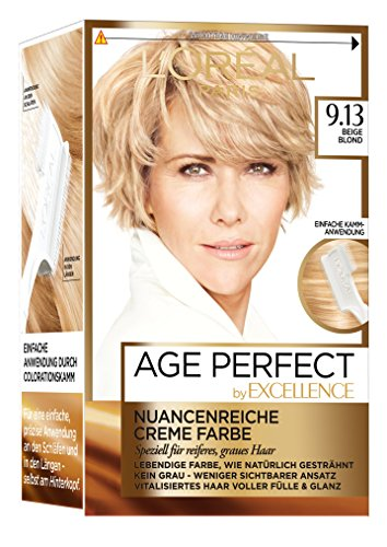 L'Oréal Paris Excellence Age Perfect Coloration, 9.13 beige blond, 3er Pack (3 x 1 Stück)