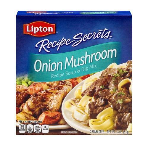 Lipton Onion Mushroom Soup and Dip Mix, 1.8 Oz (Pack of 4)