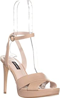 NINE WEST Womens Quisha Leather Peep Toe Casual Strappy Sandals US