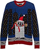 Blizzard Bay Men's Ugly Christmas Sweater Light UP, Red/Grey, X-Large