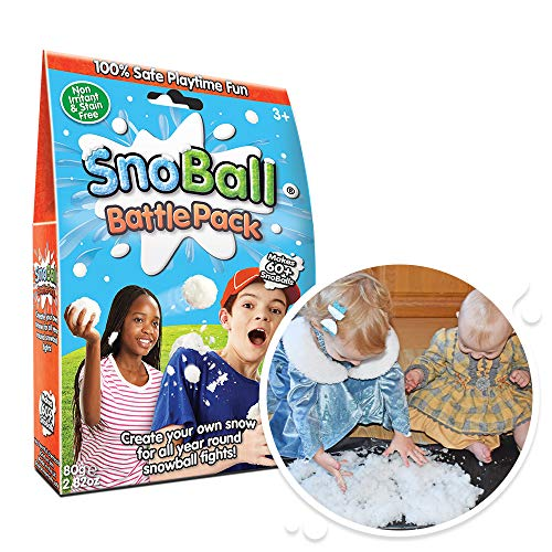 4 x SnoBall Battle Pack from Zimpli Kids, Turn Water Into Artifical Snow, Children's Sensory and Outdoor Play Toy