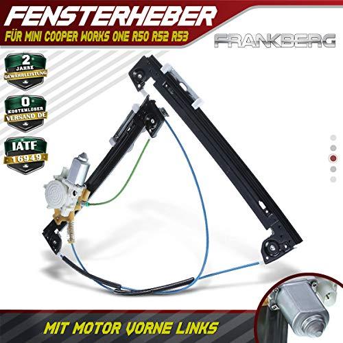 Frankberg Fensterheber Mit Motor Vorne Links für Cooper Works One R50 R52 R53 2/3-Türig 2001-2007 51337039451