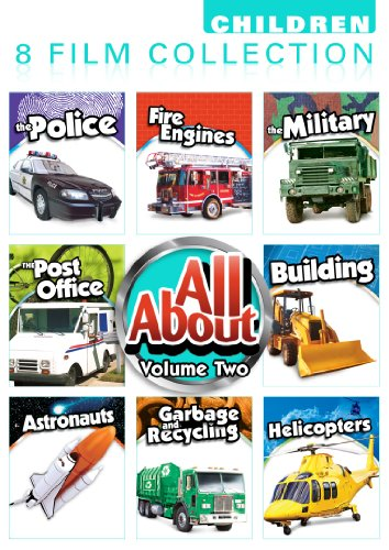 All About 8 Pack Volume 2: Police, Fire Engines, Military, The Post Office, Building, Astronauts, Helicopters, Garbage & Recycling