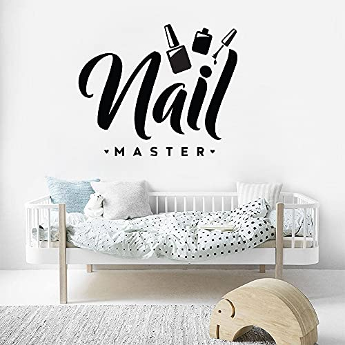 Design Nail Salon Logo Sign Nail Polish Manicure Pedicure Wall Sticker Vinyl Art Decal Bedroom Living Room Beauty Salon Studio Club Home Decor Mural