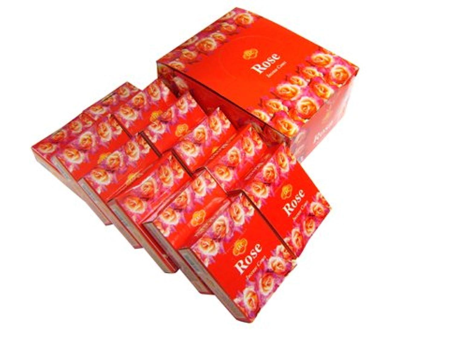 小数を除く破壊SANDESH SAC (サンデッシュ) ローズ香コーンタイプ ROSE CORN 12箱セット