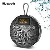 ADE Bluetooth-Lautsprecher BR1703-1 tragbar mit Radio & Wecker – Outdoor Radio und Duschradio mit...