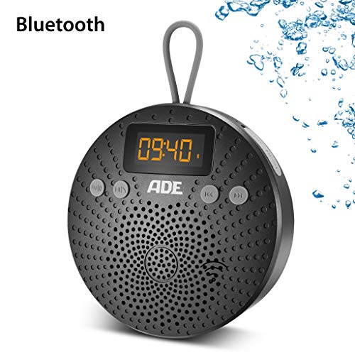 ADE doucheradio BR1703-1 Bluetooth-luidspreker met radio en wekker, IPX5