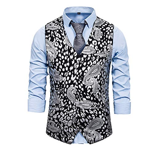 Chaleco para hombre con estampado de moda para esmoquin