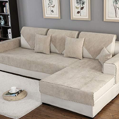 weichuang Funda de sofá impermeable para mascotas, cojín de protección antideslizante, funda de sofá para cuatro estaciones, funda de sofá universal para sala de estar, funda de sofá