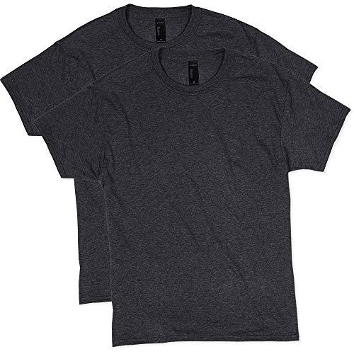 Hanes Men's Short Sleeve X-Temp W/ FreshIQ T-Shirt 2-Pack, Slate Heather, 3X-Large
