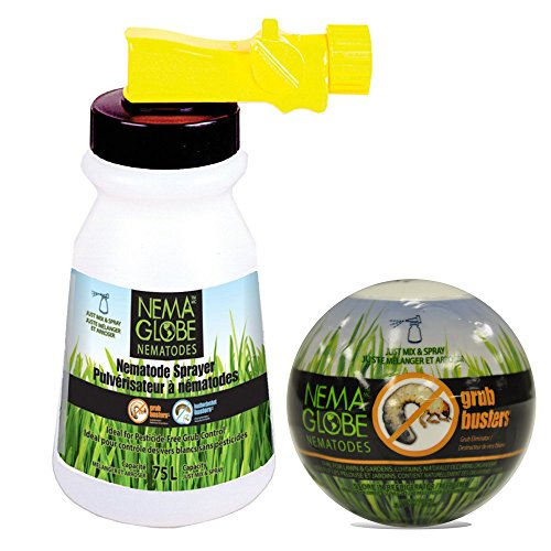 Nema Globe 4003603 20 Million Beneficial Nematodes - Grub Buster & Sprayer