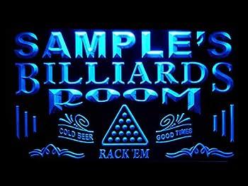 ADVPRO Name Personalized Custom Billiards Pool Bar Room Neon Sign Blue 16x12 inches st4s43-pj-tm-b