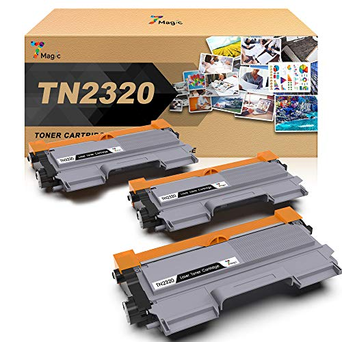 TN-2320, 7Magic TN-2320 Compatible con Brother TN-2320 Cartucho de Tóner Compatible con Brother MFC-L2700DW MFC-L2740DW MFC-L2720DW HL-L2300D HL-L2340DW DCP-L2520DW DCP-L2500D Impresora(3 Negro)