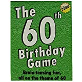 The 60th Birthday Game. Fun new 60th birthday party game idea, also suitable as a sixtieth birthday gift idea for men or women.