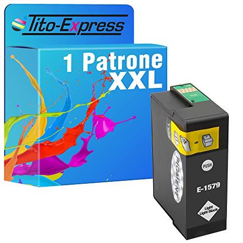 Tito-Express 1 cartucho de tinta compatible con Epson T1579 15XL con 30 ml Light Black XXL de contenido Epson Stylus Photo R 3000