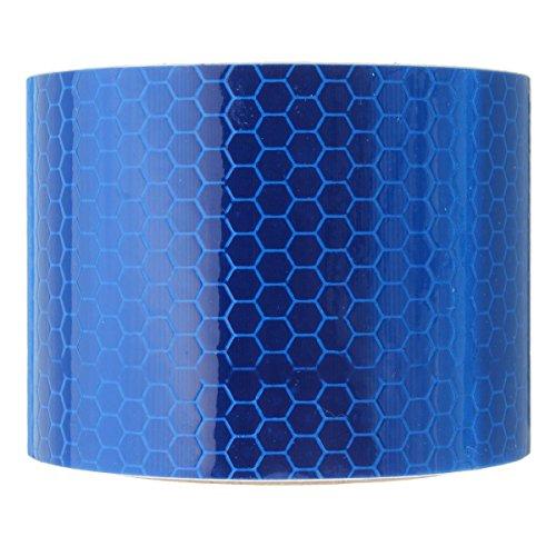 Preisvergleich Produktbild DaoRier Twill Reflektorband Warnklebeband Sicherheit Markierung Band 3m x 5cm Schutzleisten für Auto LKW Motorrad Regenmantel Blau