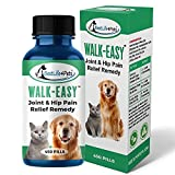 BestLife4Pets Walk-Easy Hip and Joint Supplement for Dogs Cats – Arthritis Pain Relief and Anti-inflammatory Support Pills - All Natural, for Large and Small Pets