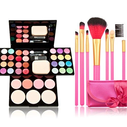 TimeSong Kit de maquillaje cosmético profesional conjunto de paleta (Incluye: Sombra de ojos y Blusher y polvo de cara y...