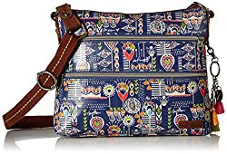 Sakroots Basic Crossbody. A coated canvas crossbody purse with wide strap