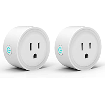 Alexa Smart Plugs WiFi Plug Outlet 2 Pack Control Timer/On/Off Switch, Mini Wireless Socket Works with Google Home, Smart Life/AvatarControls App, No Hub Required
