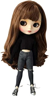 DoubleWood Handmade Causal Sweater & Jean/Pants Replacement for Blythe Doll, 1/6 Fashion Doll Clothing Set Accessories Dol...