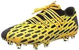 PUMA Future 5.1 Netfit Low FG/AG, Botas de fútbol Hombre, Amarillo (Ultra Yellow Black), 41 EU